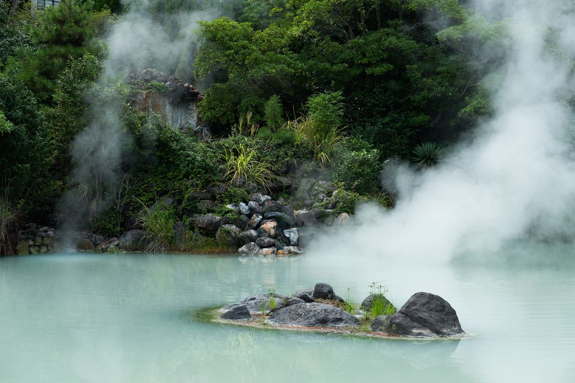 Steaming onsen luxury