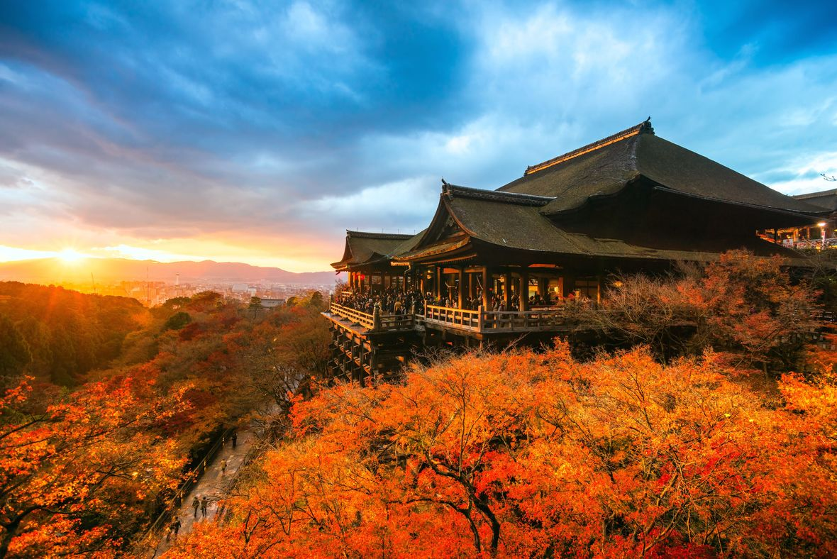 Temple overlooking Kyoto