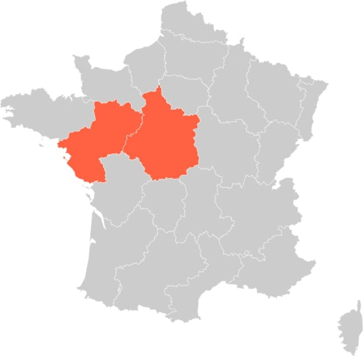 France Loire Valley Region Map