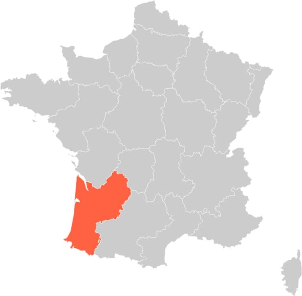France Bordeaux and Dordogne Region Map