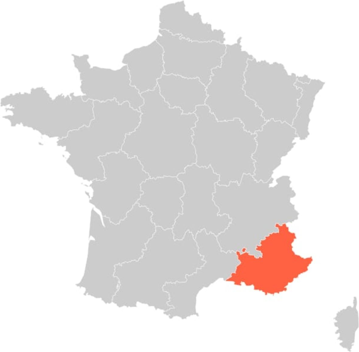 France Provence Region Map