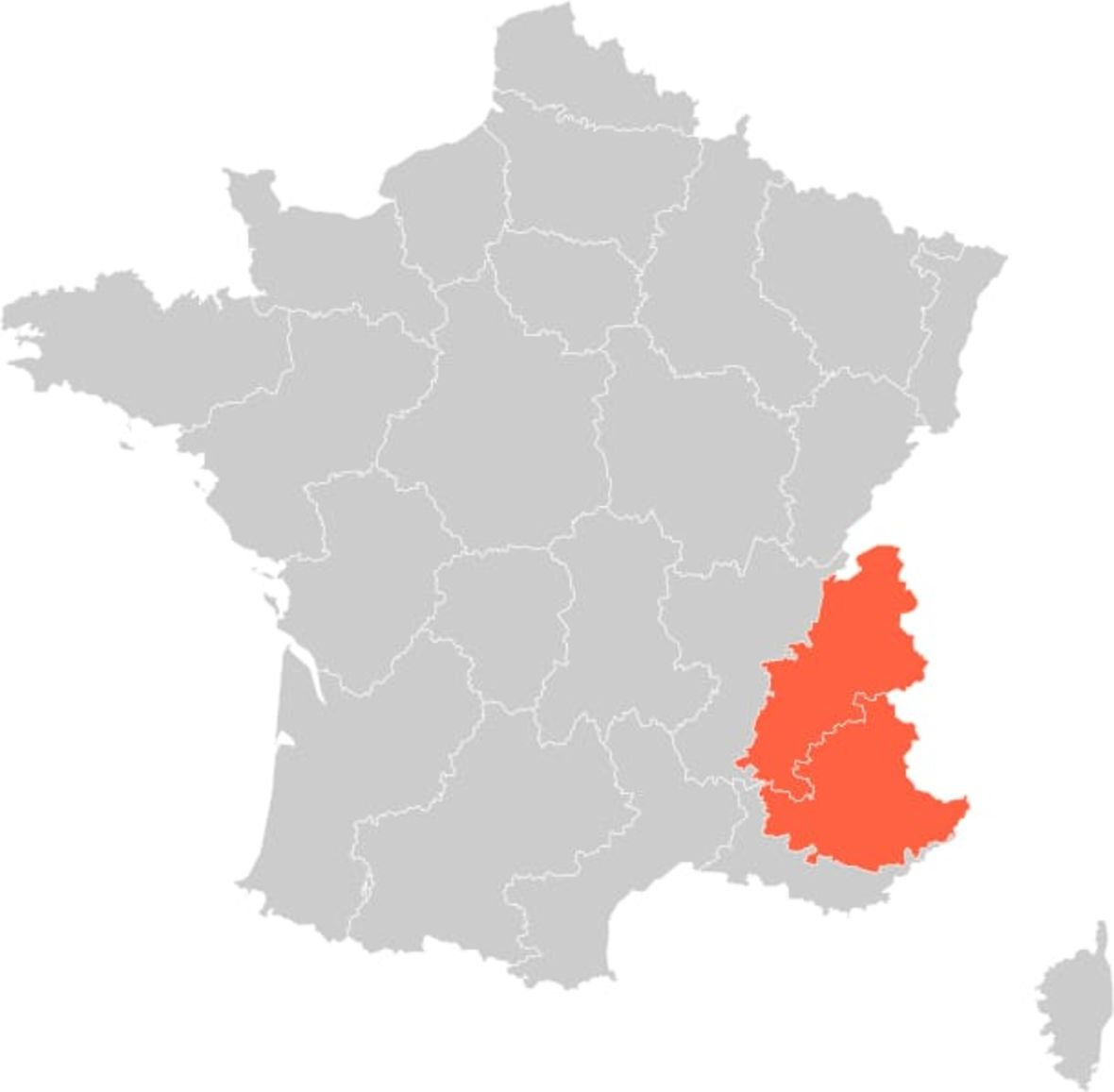 French Alps Region Map