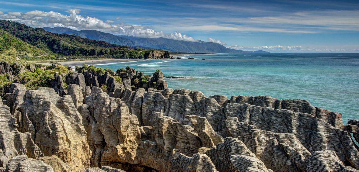 Pancake Rocks, Pumakaiki, New Zealand