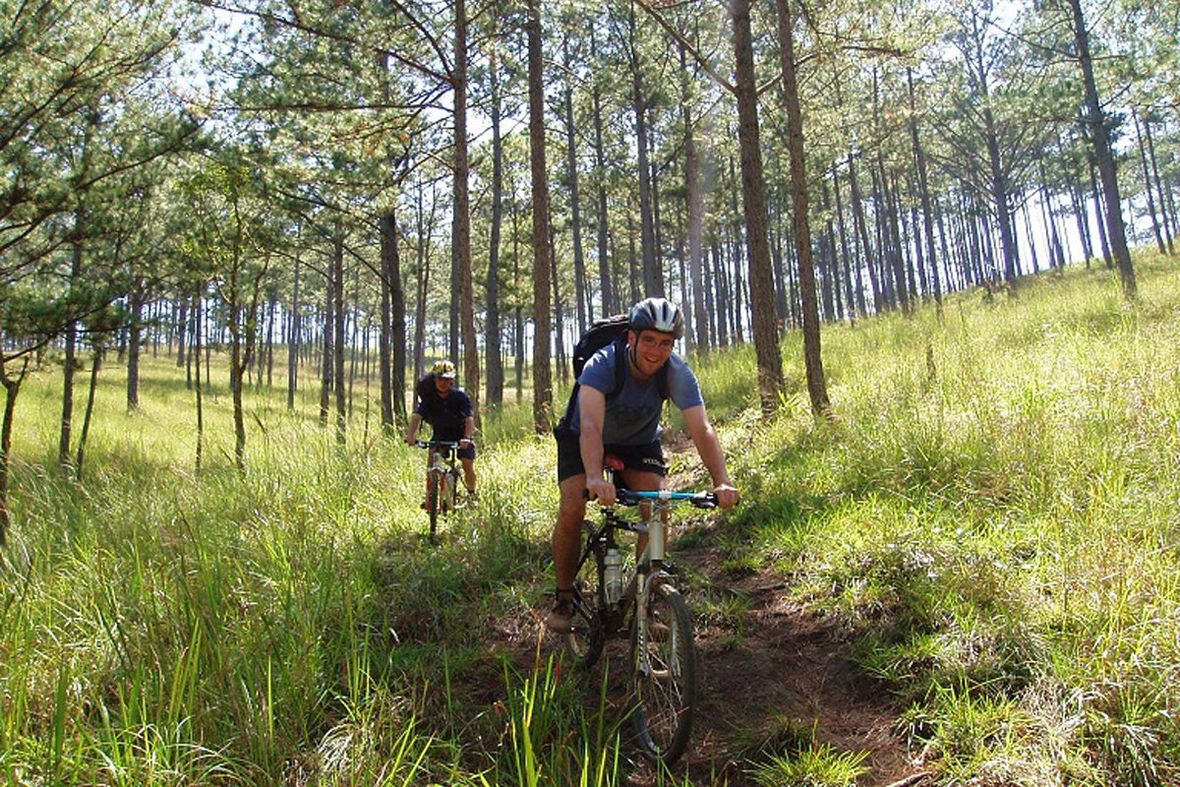 Biking the forest of Dalat, Vietnam