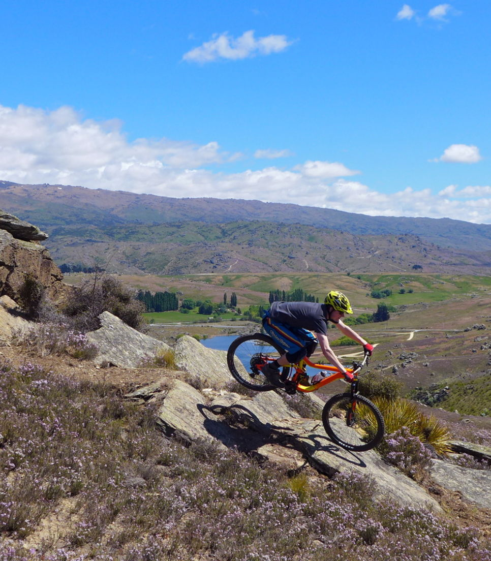 Let gravity add to the fun as you zip your way down the Kiwi's favorite trails
