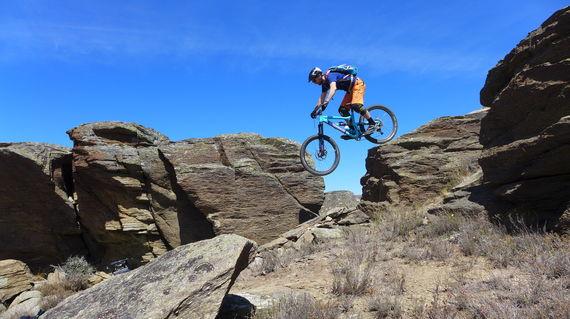 Gravity rides down Coronet Peak rock!