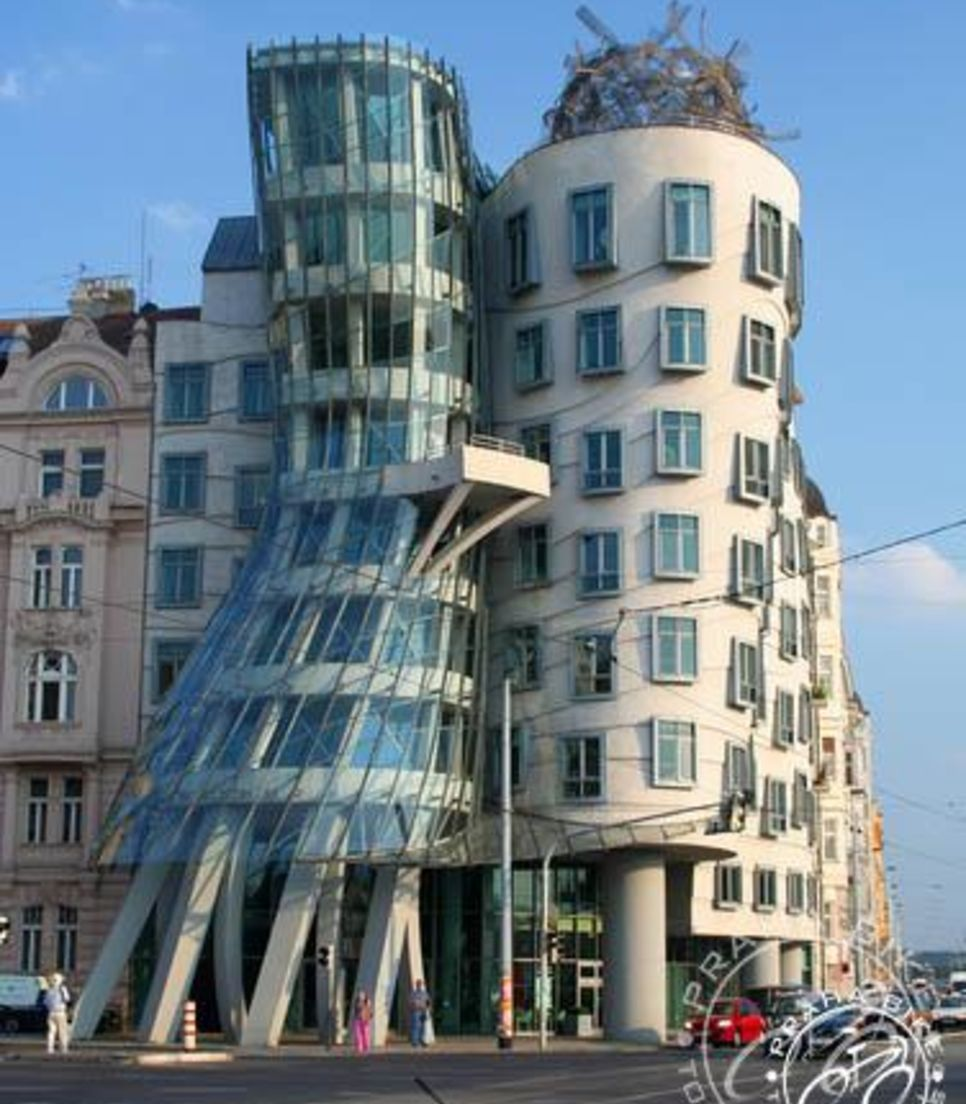 One of the more whimsical stops, the Dancing Buildings are one of the morning's stops