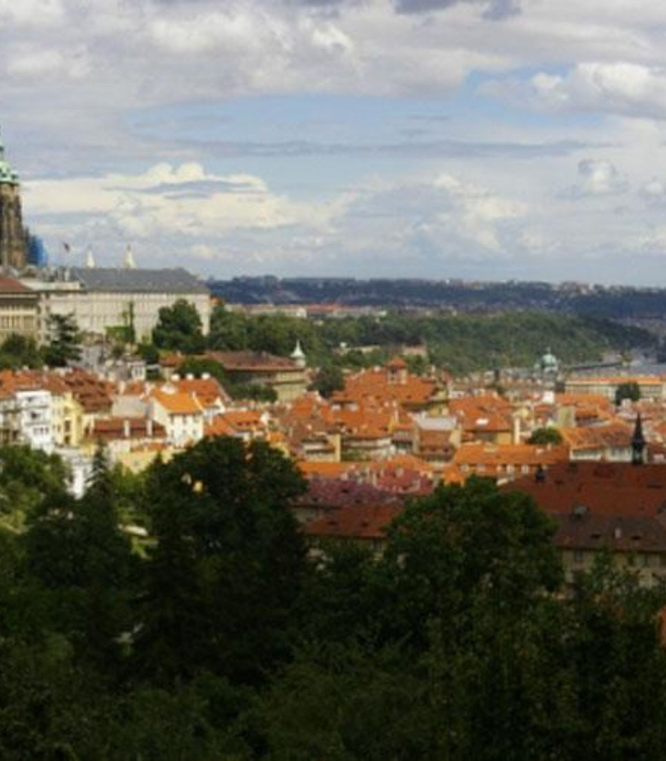Overlooking the city proper is Prague Castle, dating from the 9th century