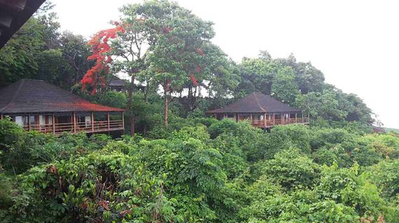 A boutique resort in lush greenery with magnificent views