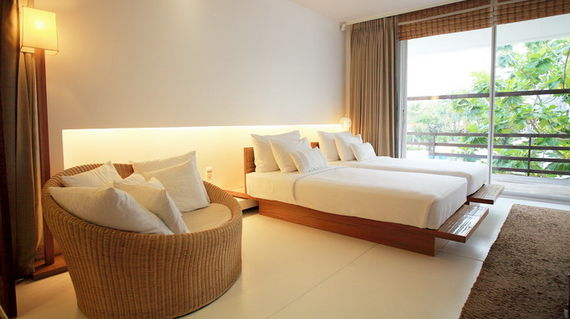 Swanky hotel by the shores of the beach