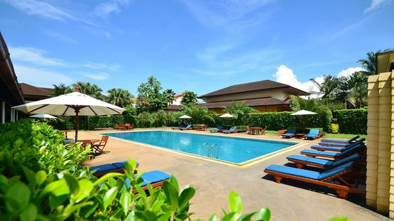 Upscale modern hotel in Ranong's commercial district