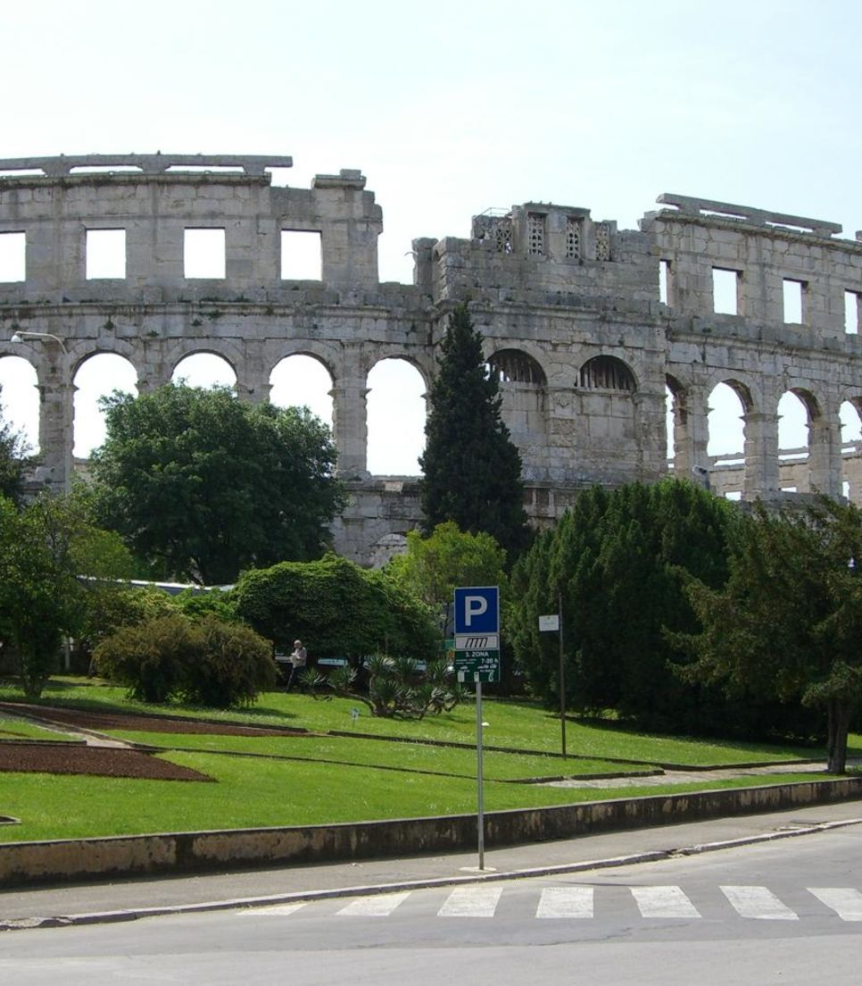 Catch sight of Pula's amphitheatre which rivals that of Rome