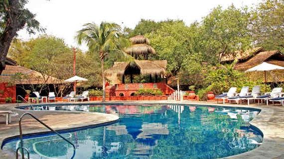 Relaxing riverside hotel with Myanmar design