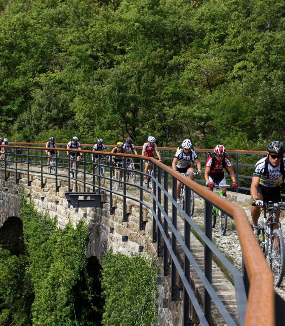 A former railway line, cycle on this legendary route with splendid views of wine vineyards.