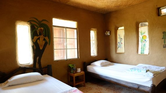 A homestay in comfortable handmade earthen houses.