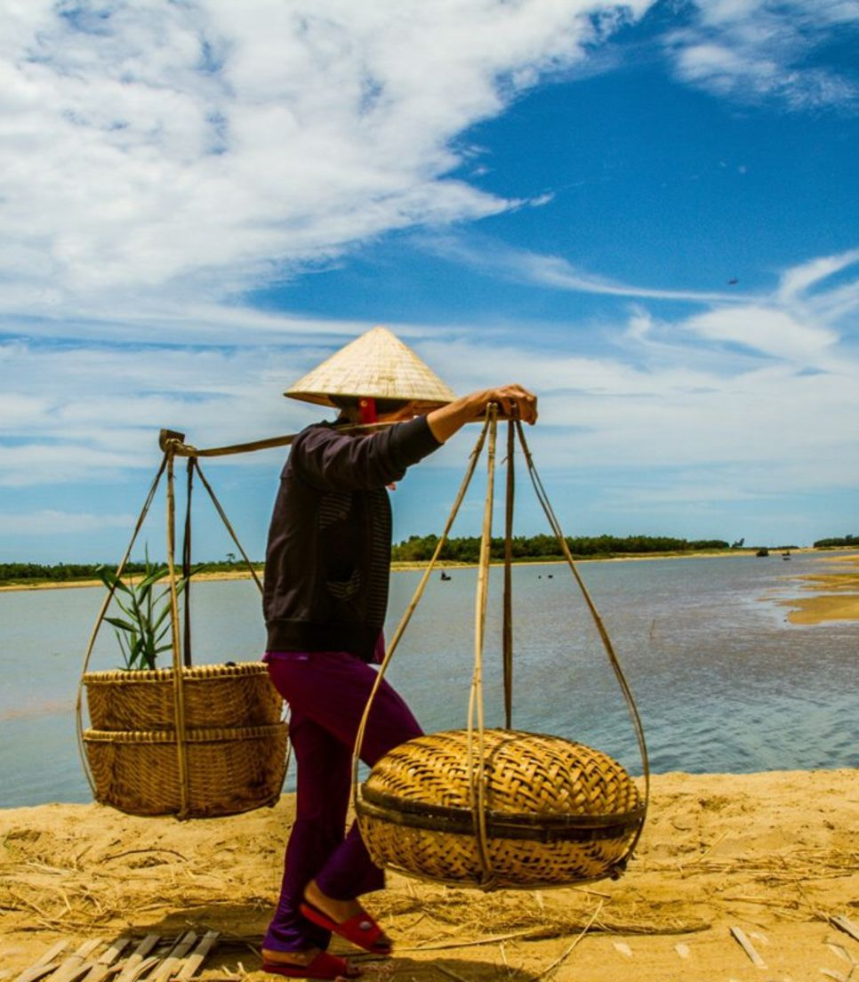 Take pleasure in the serene surroundings of the Vietnamese countryside