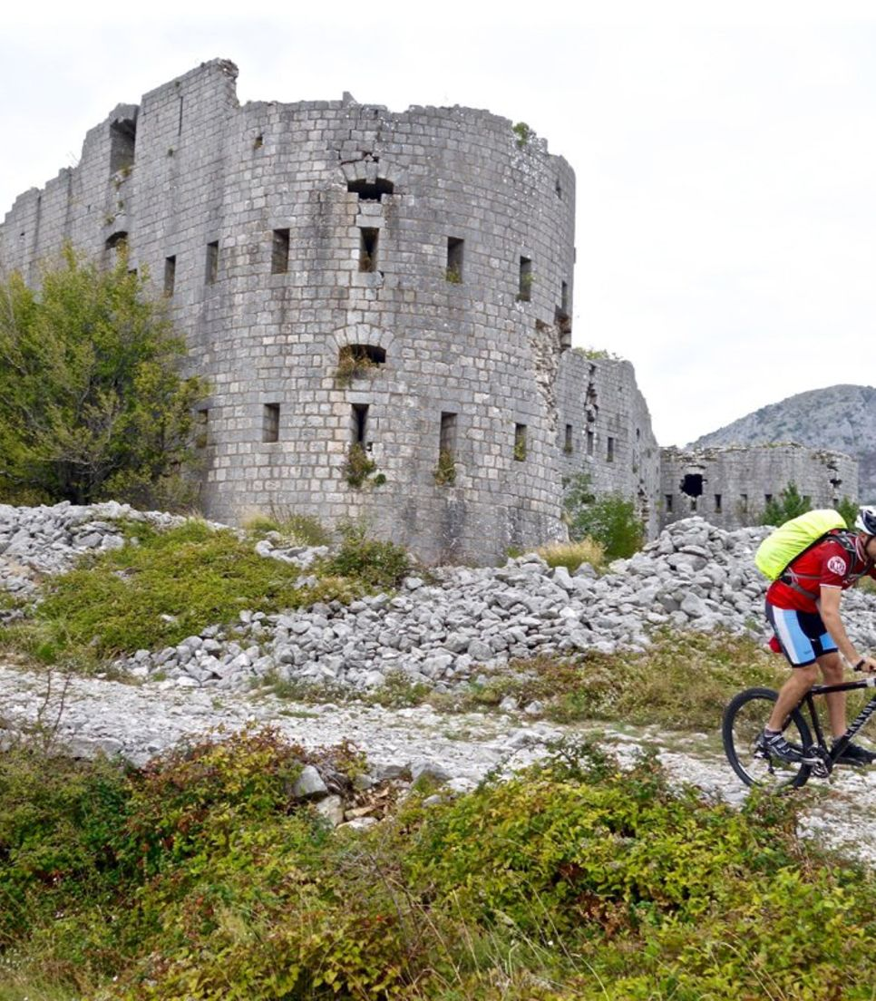 Step into the past and cycle around structures built by the ancient Greeks