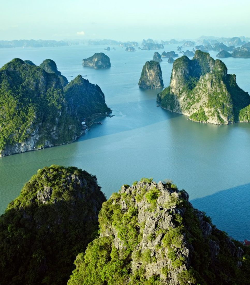An awesome vacation combo of cycling Ha Long's roads and cruising on its emerald green waters