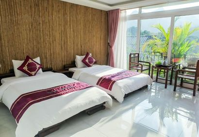 Feel the serenity and relax in your peaceful twin room share