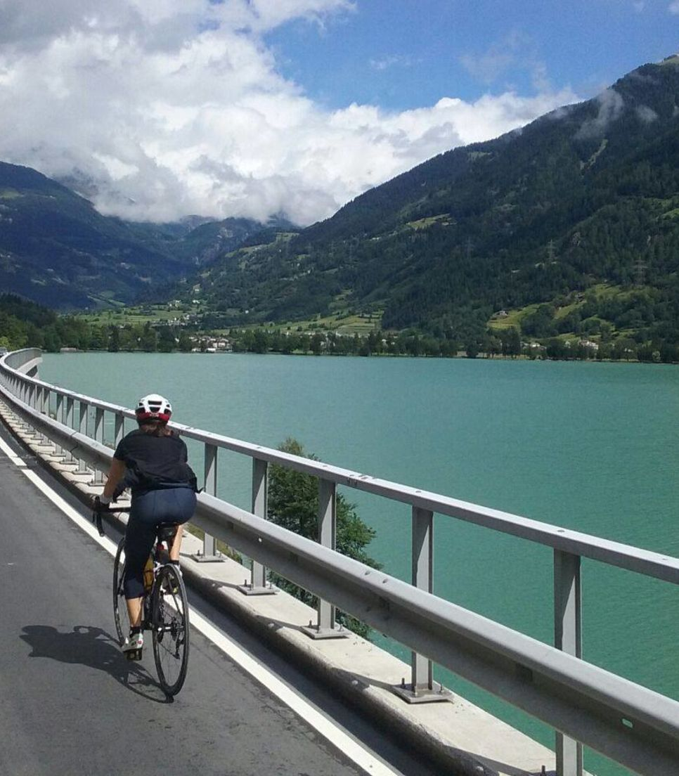 Forget the climbs for a minute and savor the lake views