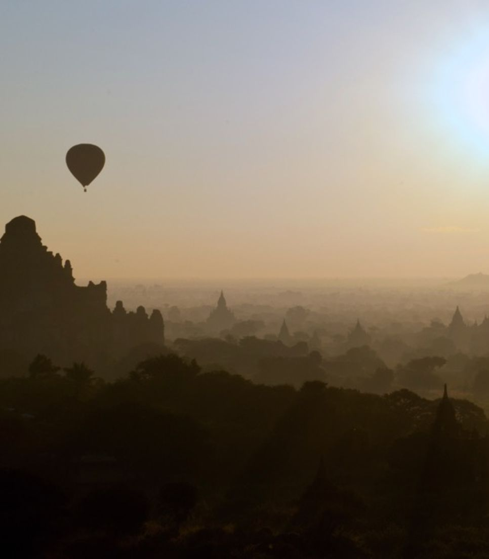 Try to count the numerous pagodas of the Bagan Plain