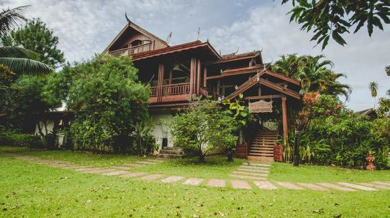 A nature resort featuring traditional Khmer designs and stately rooms.