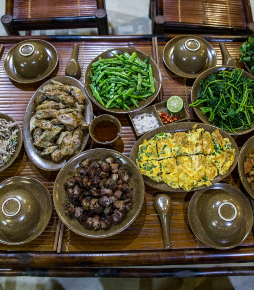 Enjoy the local cuisine of Ha Giang which has been harvested through subsistence farming