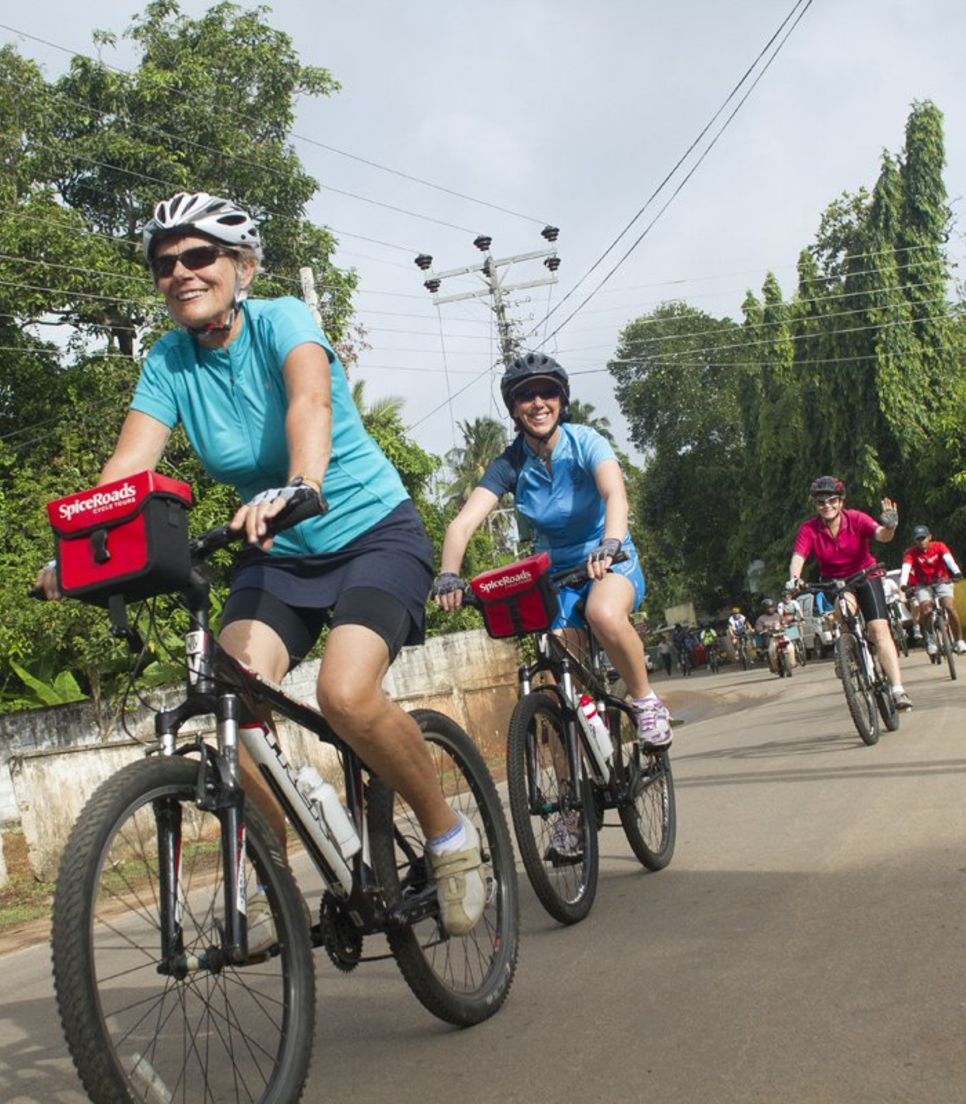 The tour covers some diverse terrain from tea estate tracks to gravel paths. There will never be a dull moment on this trip!