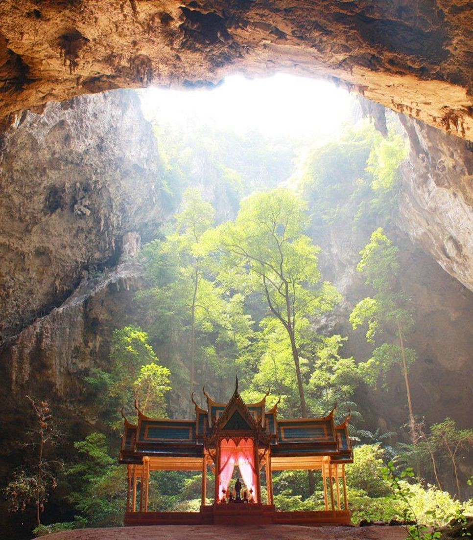One of the many highlights of this captivating tour is visiting a temple inside of a spectacular cave