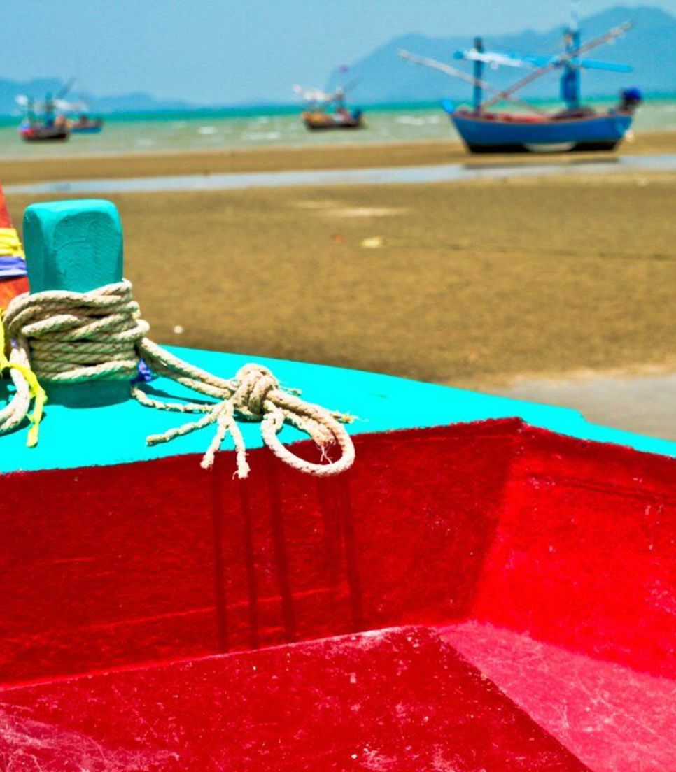 Tour past picturesque scenes of vividly colored working fishing boats as you peddle down the coast