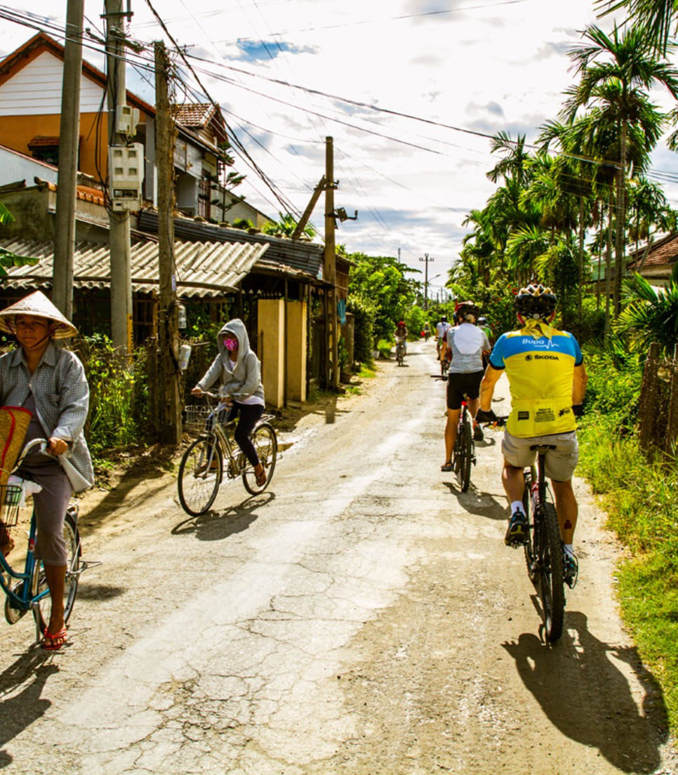 Cycle the backroads which you'll be sharing with the locals