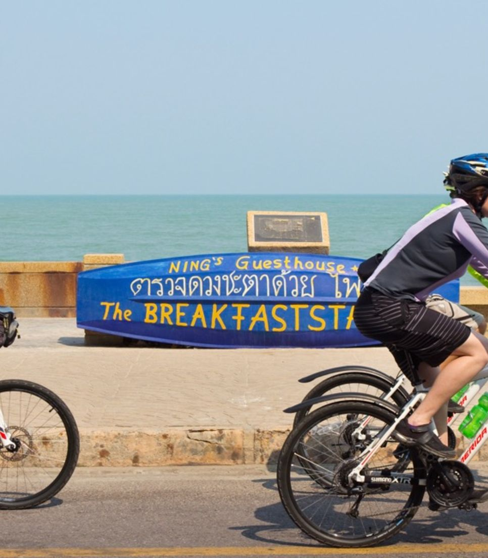 Breathe in the salty air as you pedal