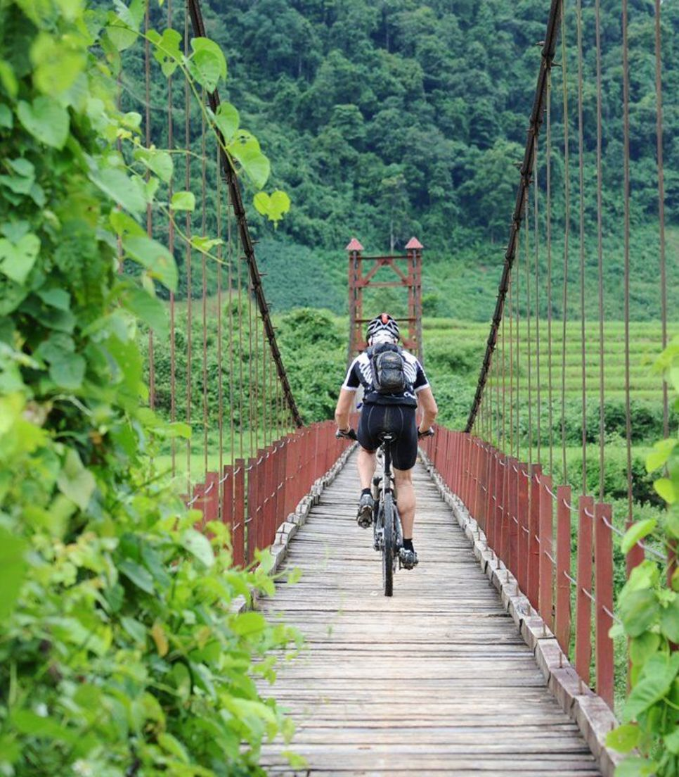 It's a tough ride but spectacular throughout, taking in plantations, rice paddies, valleys and villages and, of course, the sublime mountains