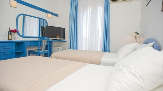 In the heart of Budva and right next to the 2000-year-old city wall, the hotel is in the perfect location and offers newly-renovated facilities and friendly staff