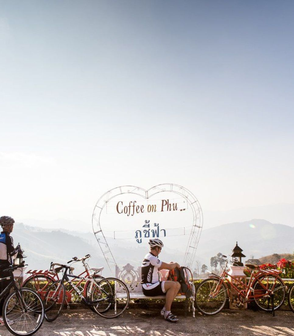 Even in the rural mountains, you'll be treated to coffee stops at majestic spots, giving you a chance to refuel