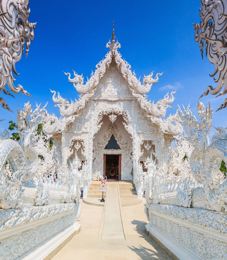 There will be plenty of natural wonders on the tour as well as manmade ones, the white temple near Chiang Rai being one such example
