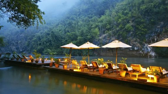 On the edge of Saiyok National Park with tropical forests and mountain views, the resort is immersed in the lush landscape and is the perfect getaway