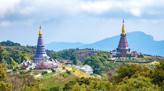 Ride to the summit of Doi Inthanon, the highest peak in Thailand