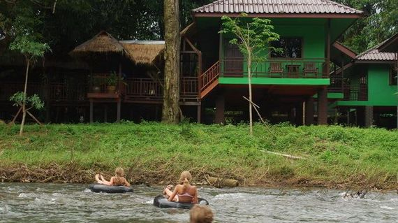 Nestled in the greenery of the jungle and just a 2-minute walk to Khao Sok National Park, the lodge sits on the banks of the river for water-based fun