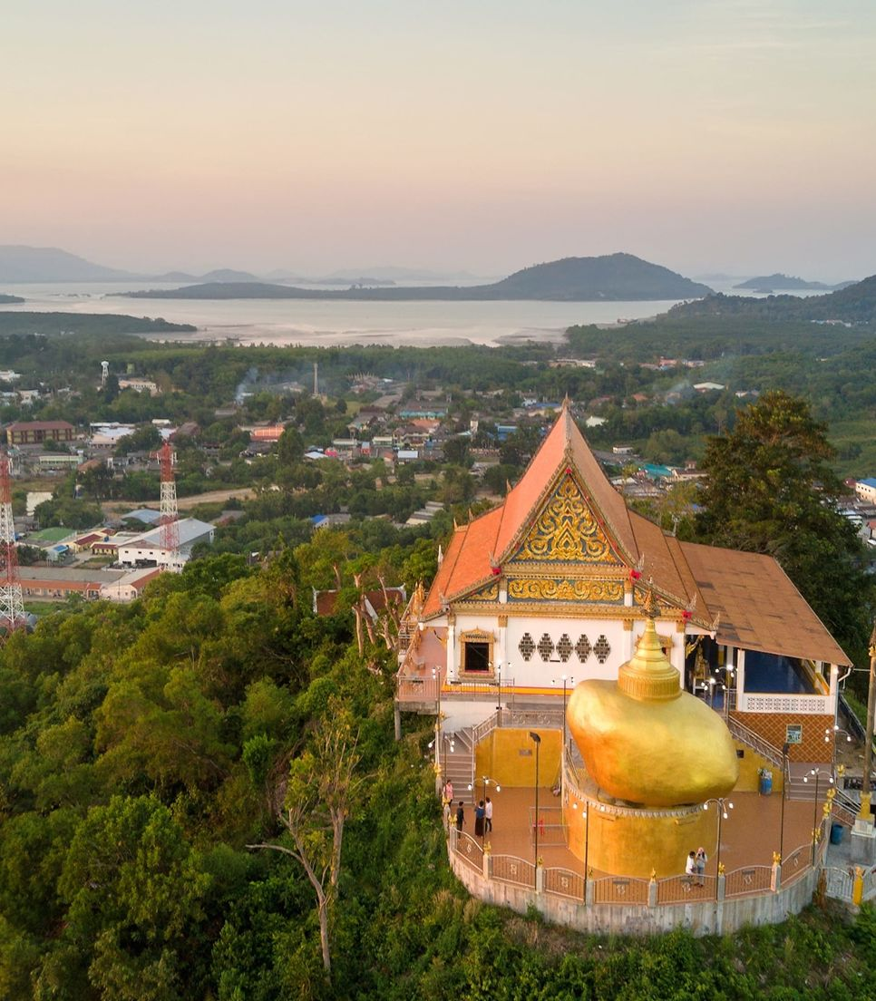 The rock is a replica from a much-loved shrine in Myanmar