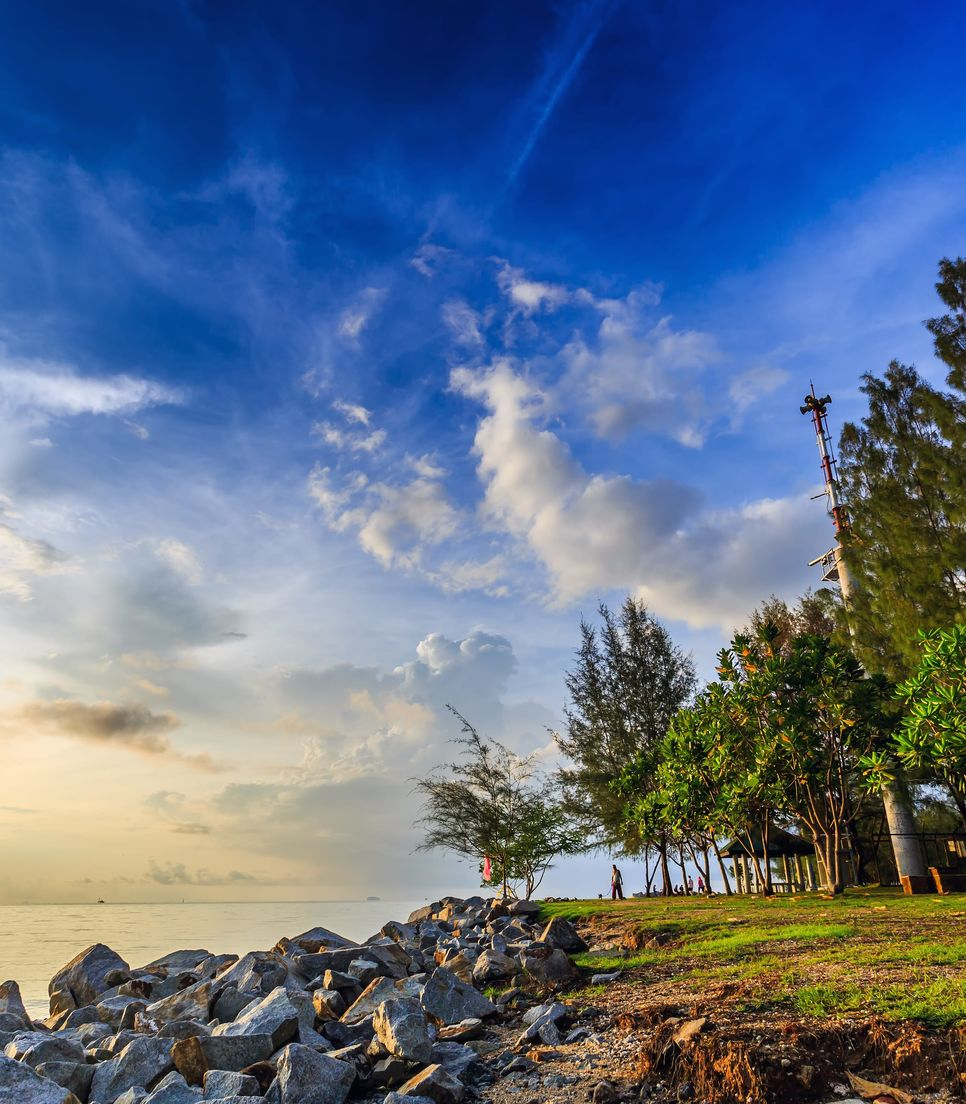 You'll finish the ride with a coastal view here at Saphan Hin, a park used by the locals