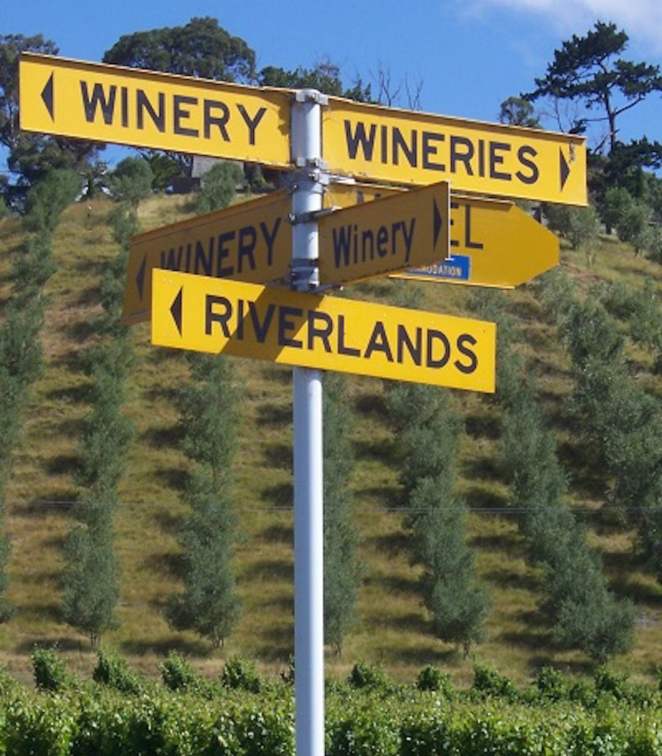 You'll have little chance of getting lost although if you spend too long at the wineries that could change