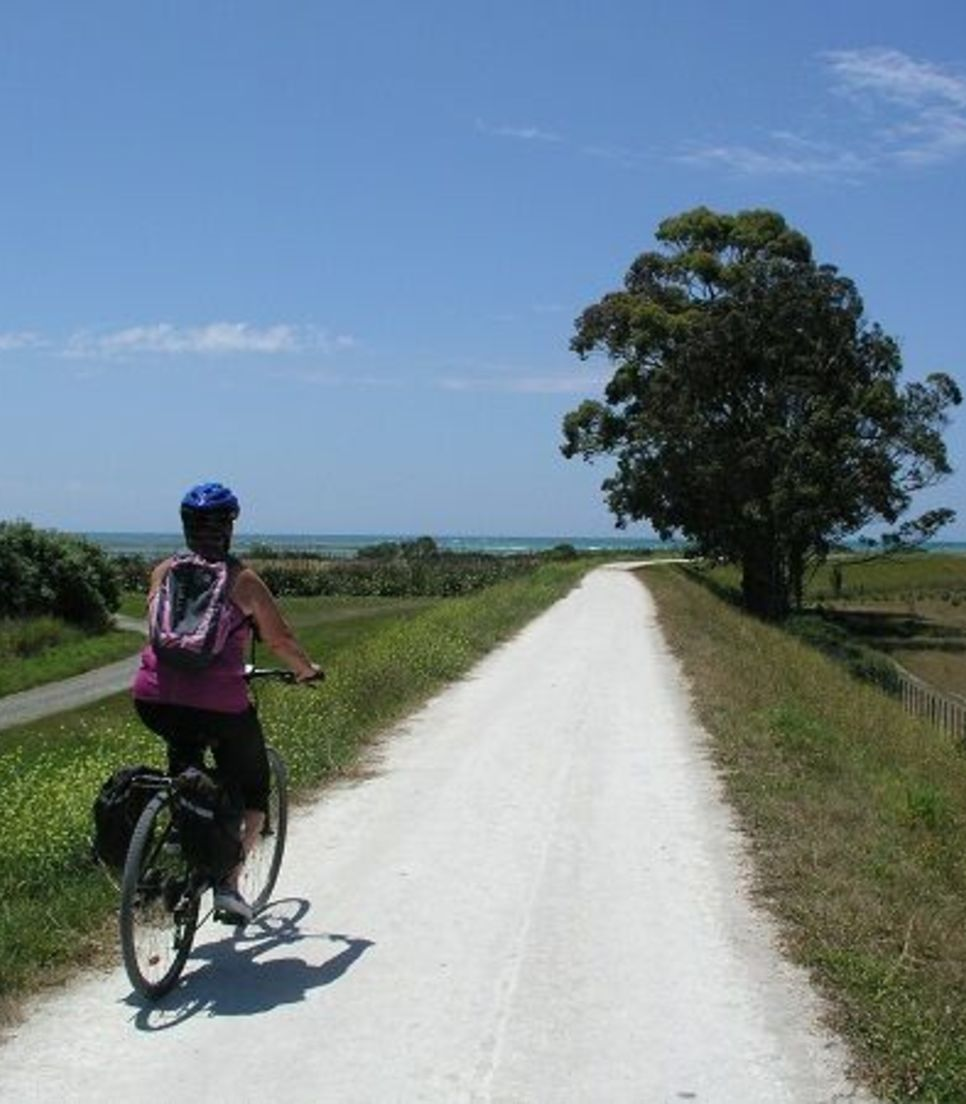 Enjoy the flat and relaxing biking with beautiful vistas