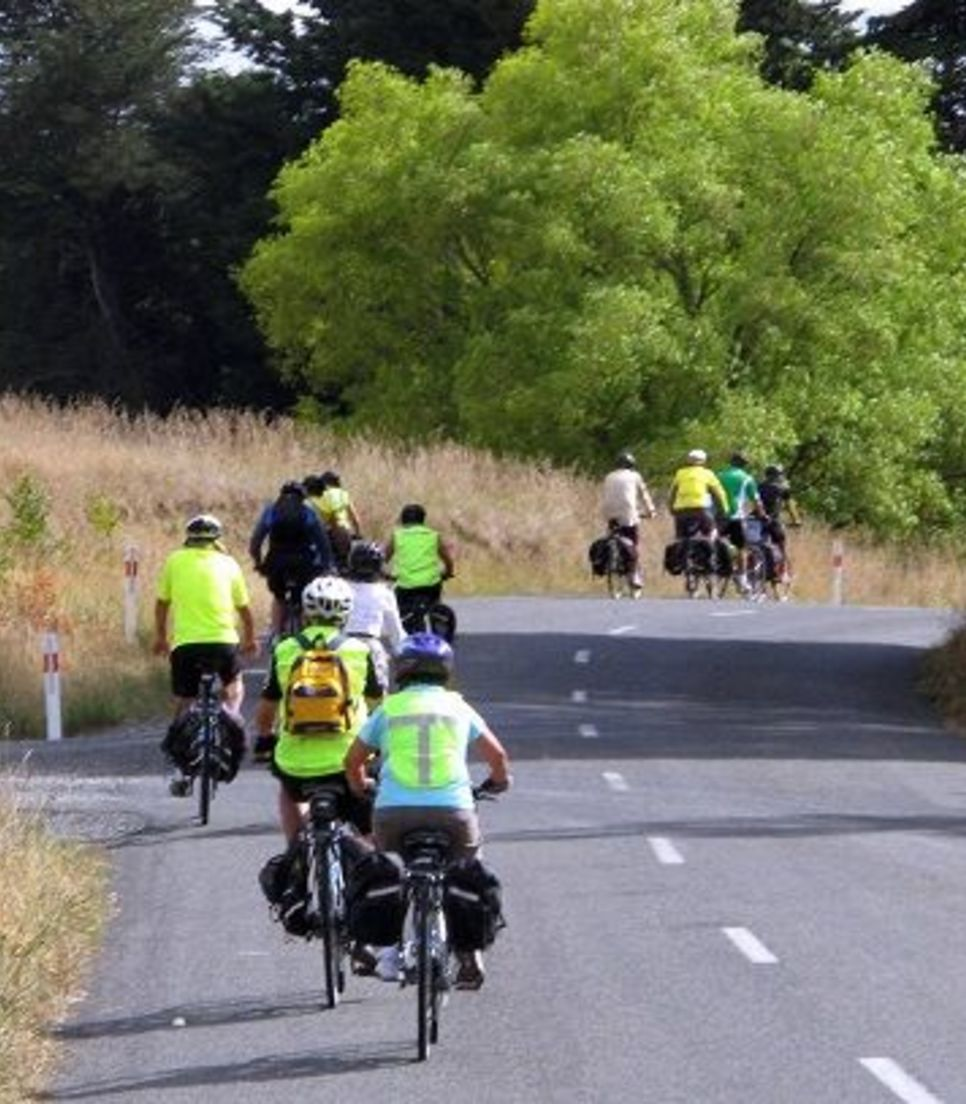 Pedal on serene country roads where you and your mates will probably be the only 'traffic' in sight