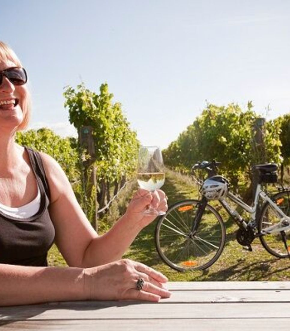 Cycle through the route with well-timed diversions incorporated into the itinerary for viticultural explorations