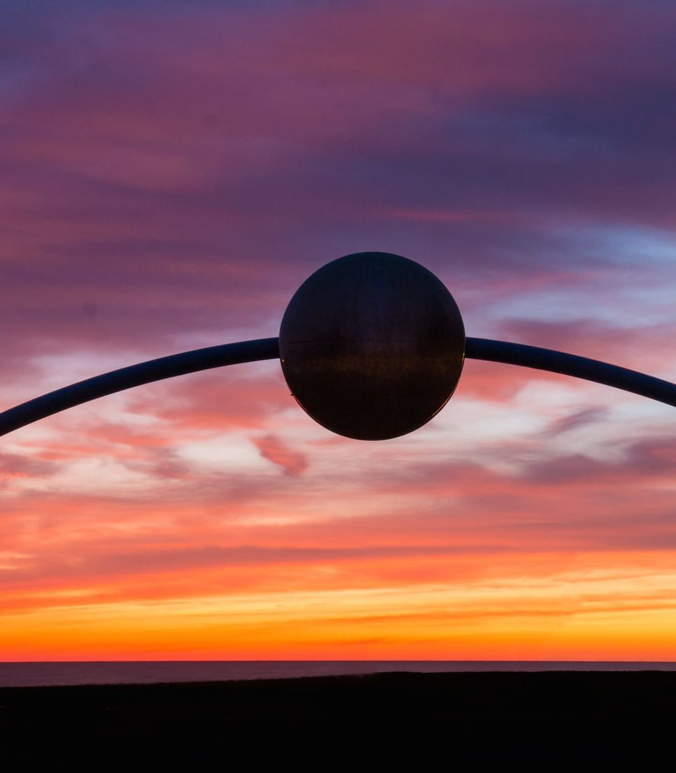 As you reach the conclusion of your tour, you'll head past David Trubridge's magnificent 'Ecliptic' monument which was made for the new millennium