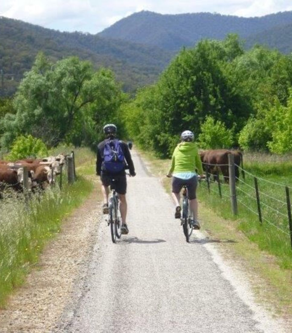 Pedal along quiet tracks as you follow the trail through glorious scenery