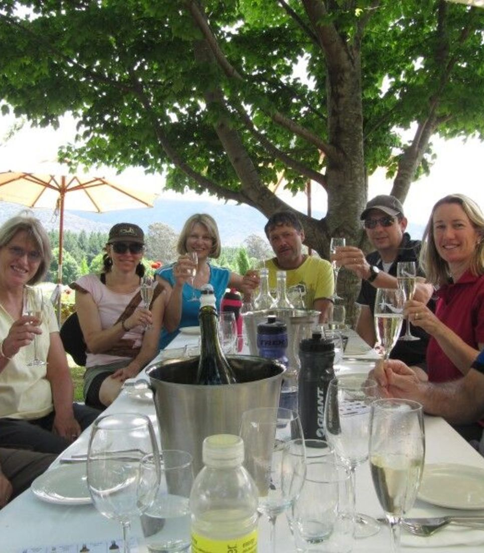 Enjoy the lunches, dinner, wine tasting and cycling in the comfort of a small group