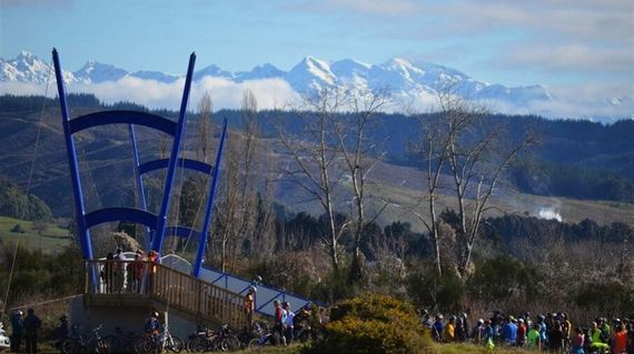 Visit and take the easy trail at the Mountain Bike Park, with a stunning backdrop