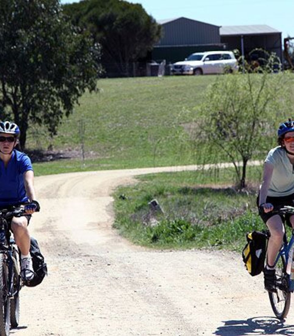 Riding at a leisurely pace is conducive to chat